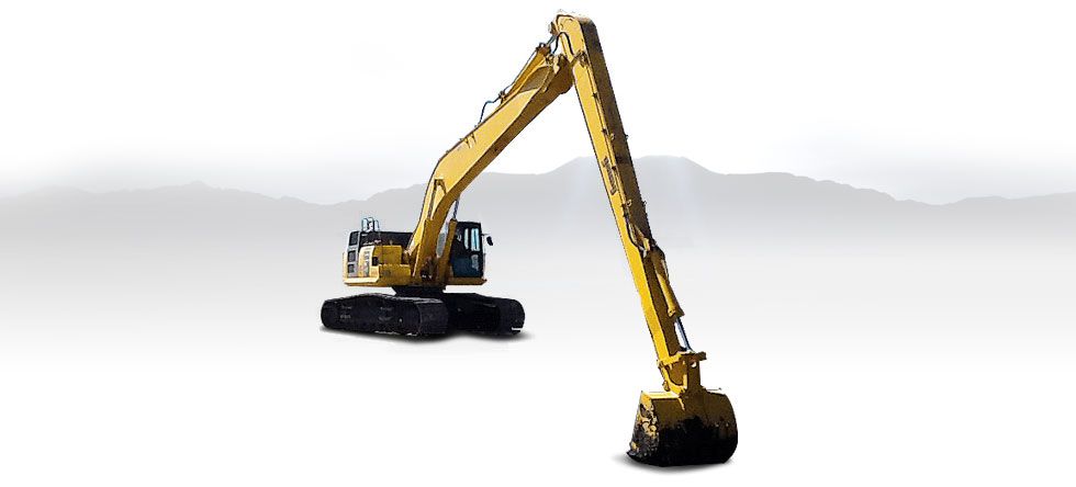 Komatsu Excavators PC210LC-10 Super Long Front