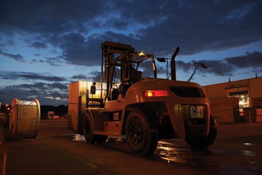 cat lift trucks internal diesel pneumatic tire dp150n